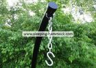 Universal Heavy Duty C Shaped Hammock Chair Stand With Extension Tube Black